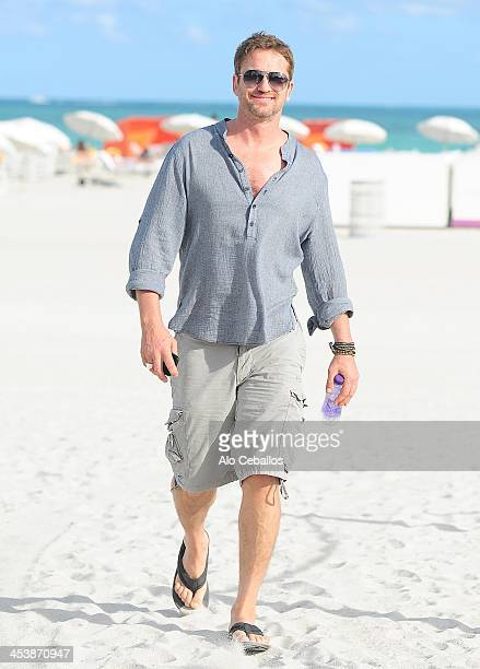 Gerard Butler is sighted on December 5 2013 in Miami Beach Florida