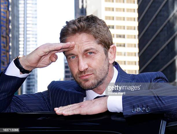 Gerard Butler leaves the 'Late Show with David Letterman' at Ed Sullivan Theater on March 14 2013 in New York City
