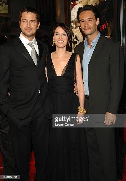 Gerard Butler Lena Headey and Rodrigo Santoro during '300' Los Angeles Premiere Red Carpet at Grauman's Chinese in Hollywood California United States
