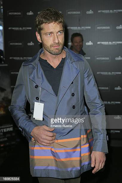 Gerard Butler meets fans at Coin on April 6 2013 in Rome Italy