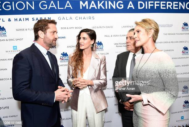 Gerard Butler RonaLee Shimon Haim Saban and Cheryl Saban attend Friends of The Israel Defense Forces Western Region Gala at The Beverly Hilton Hotel...