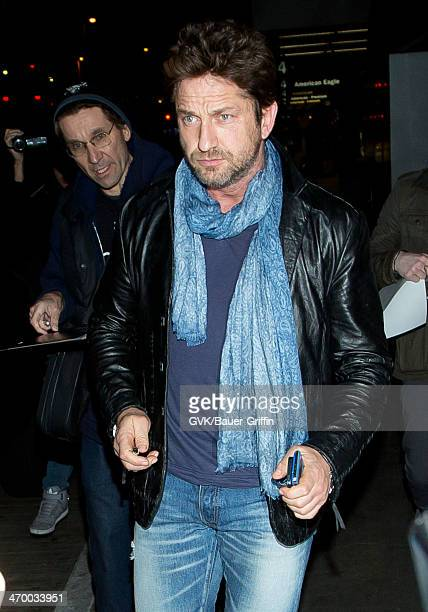 Gerard Butler seen at LAX airport on February 17 2014 in Los Angeles California