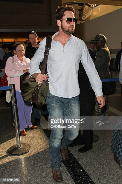 Gerard Butler seen at LAX on February 23 2015 in Los Angeles California