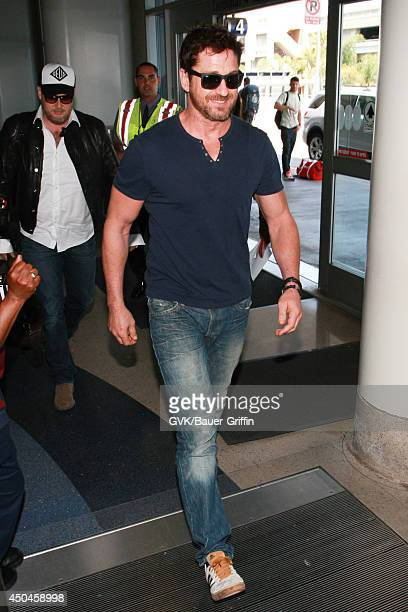 Gerard Butler seen at LAX on June 11 2014 in Los Angeles California