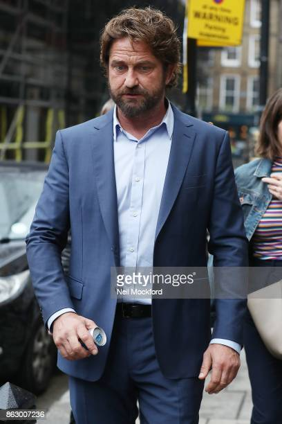 Gerard Butler seen at the Bauer Media Radio Studios on October 19 2017 in London England