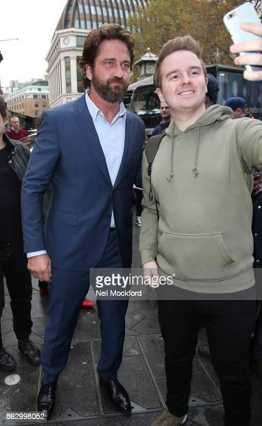 Gerard Butler seen at the Global Radio Studios on October 19 2017 in London England