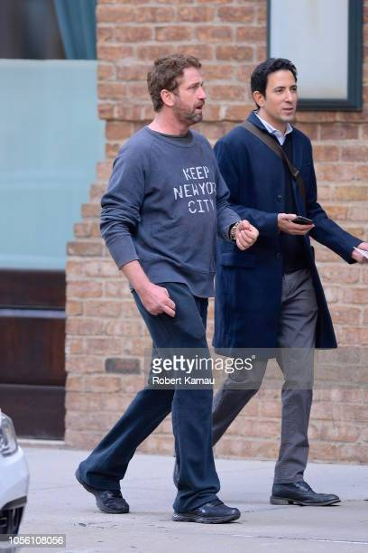 Gerard Butler seen out and about in Manhattan on October 31 2018 in New York City