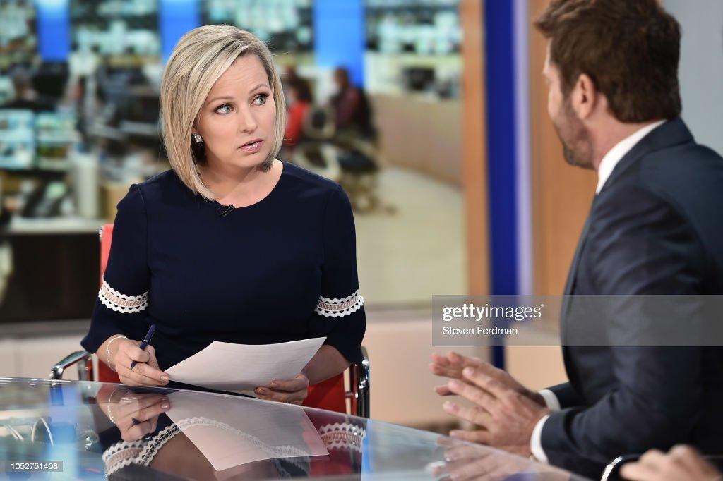 Gerard Butler Speaks With Sandra Smith On Fox News Channel : News Photo