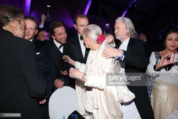 Gerard Butler, Vanessa Redgrave during the Cinema For Peace Gala at Westhafen Event & Convention Center on February 23, 2019 in Berlin, Germany.