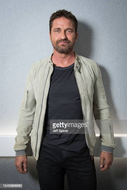 Gerard Butler visits Absolute Radio at Absolute Radio on October 5 2018 in London England