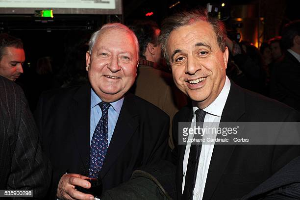 Gerard Carreyrou and Roger Karoutchi attend France Soir Launch Party in Paris