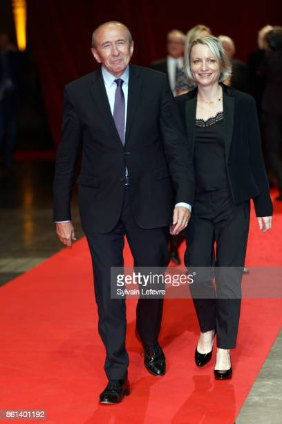 Gerard Collomb and his wife Caroline attends opening ceremony of 9th Film Festival Lumiere In Lyon on October 14 2017 in Lyon France