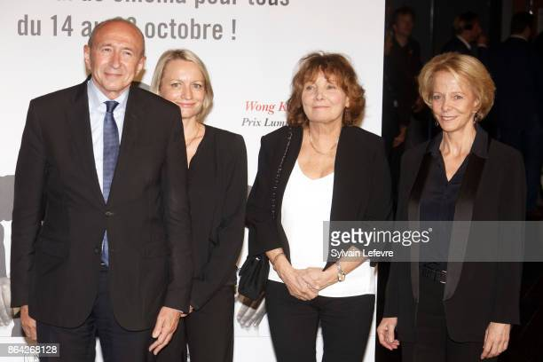 Gerard Collomb Caroline Collomb Diane Kurys and Frederique Bredin attend the photocall before The Lumiere Prize ceremony during 9th Film Festival...
