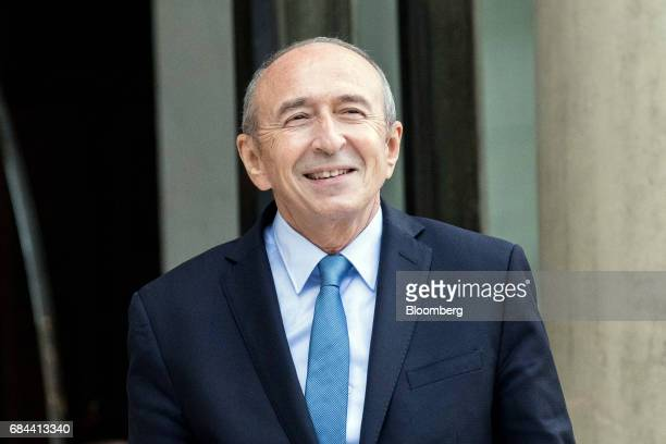 Gerard Collomb France's interior minister arrives for a cabinet meeting at the Elysee Palace in Paris France on Thursday May 18 2017 President...