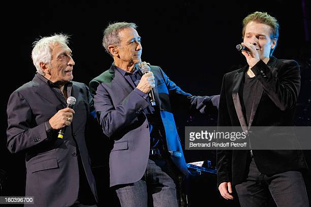 Gerard Darmon Alain Chamfort and Benabar perform at Le Grand Rex on January 30 2013 in Paris France
