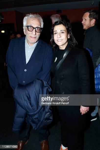 Gerard Darmon and Jocya Macias attend Enrico Macias 80th Anniversary at L'Olympia on February 09, 2019 in Paris, France.