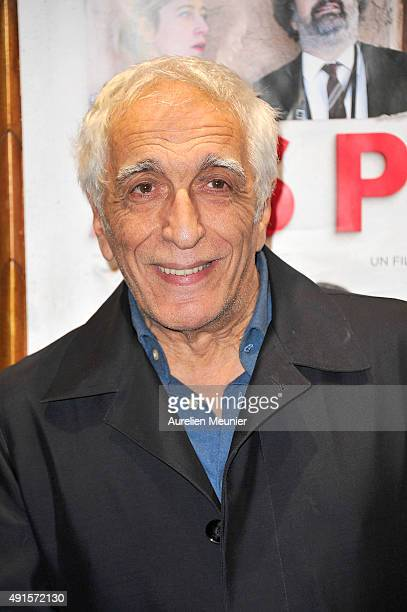 Gerard Darmon attends the 'Asphalte' Paris premiere at Cinema Gaumont Opera on October 6 2015 in Paris France