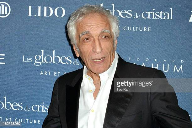 Gerard Darmon attends the 'Globes de Cristal 2013' Press Room at the Lido on February 4 2013 in Paris France