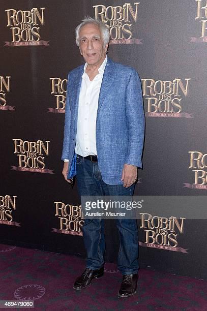 Gerard Darmon attends the 'Robin Des Bois La Veritable Histoire' Paris Photocall at Cinema Gaumont Capucine on April 12 2015 in Paris France