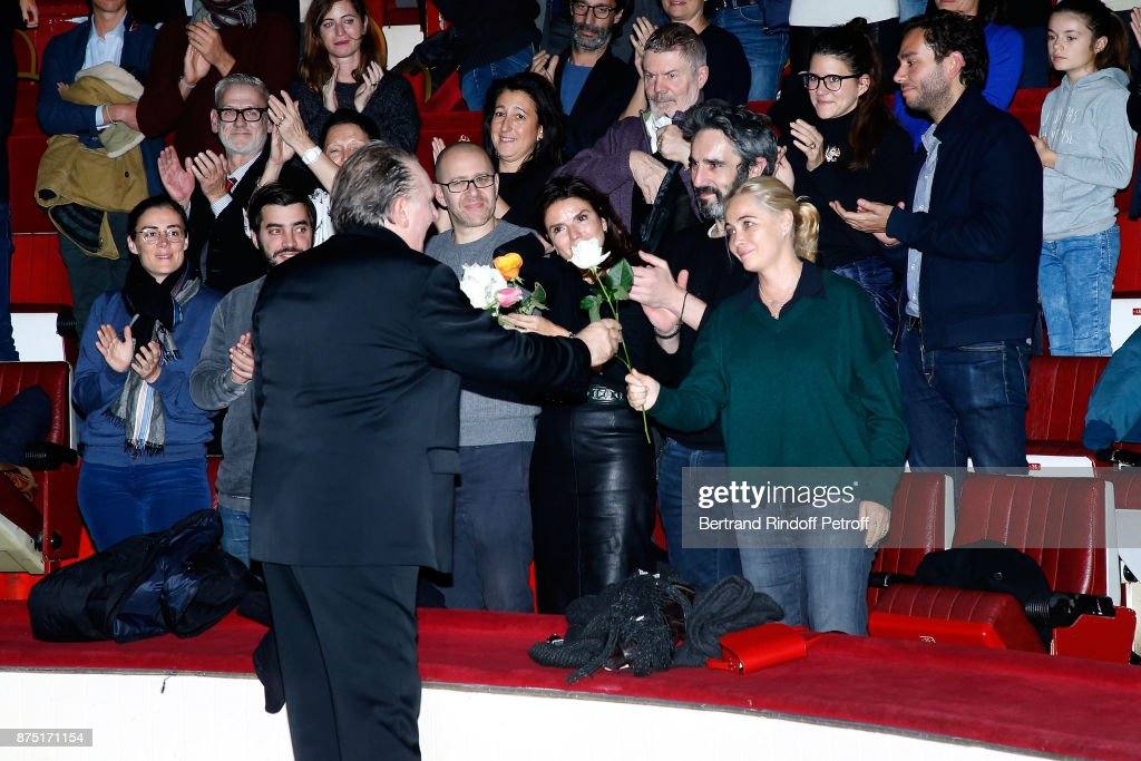 "Celebrities At ""Depardieu Chante Barbara"" At ""Le Cirque D'Hiver"""