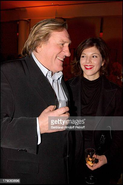 Gerard Depardieu and Clementine Igou at Special Party For Claude Chabrol To Celebrate His 50 Year Career And The Launch Of His Movie Bellamy At Park...