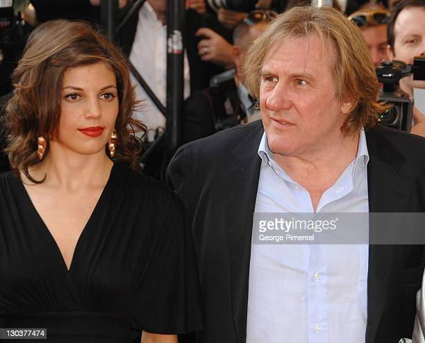 Gerard Depardieu and Clementine Igou during 2007 Cannes Film Festival Chacun Son Cinema All Directors Premiere at Palais des Festival in Cannes France