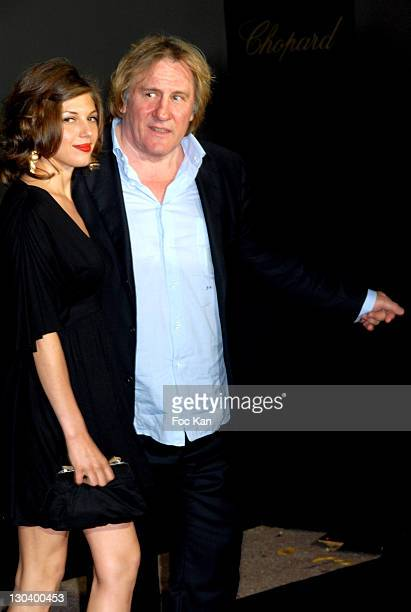 Gerard Depardieu and Clementine Igou during 2007 Cannes Film Festival 60th Anniversary Dinner in Cannes France