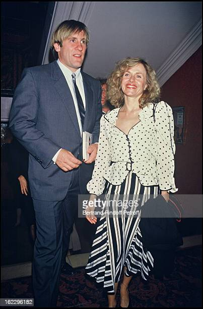 Gerard Depardieu and his wife Elisabeth at Dieu Shakespeare Et Moi premiere in 1985