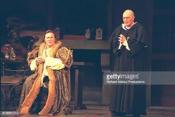 Gerard Depardieu and JeanMarie Winling on stage