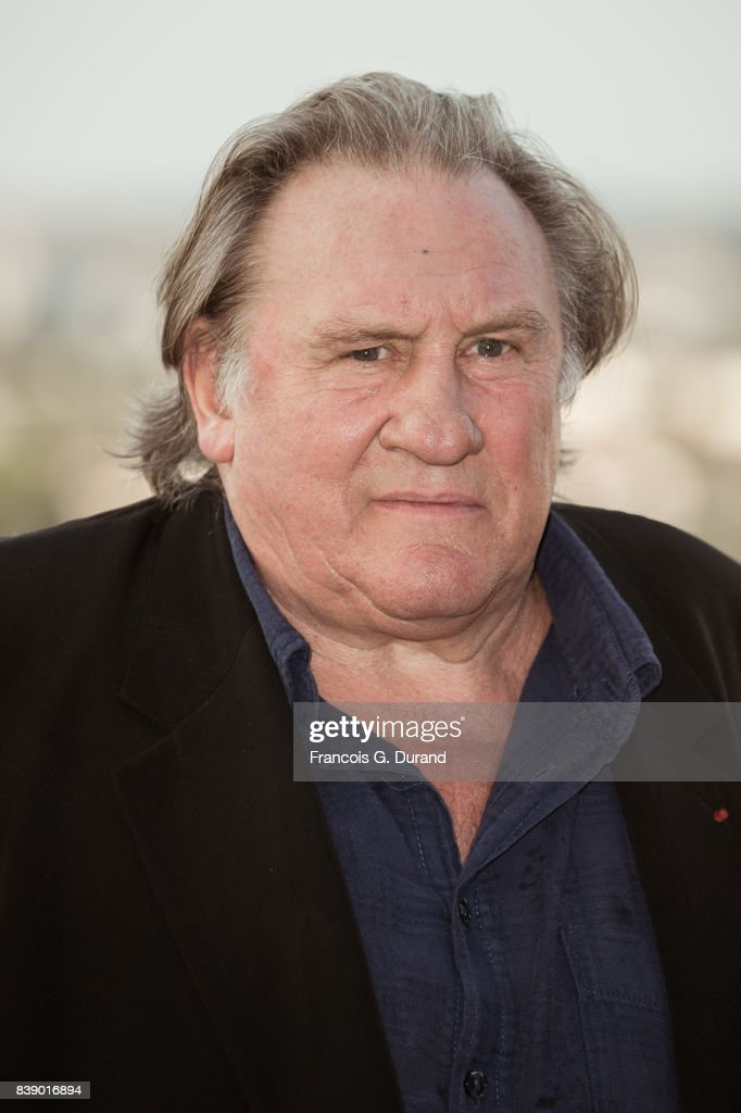 Gerard Depardieu attends the 10th Angouleme French-Speaking Film Festival on August 25, 2017 in Angouleme, France.