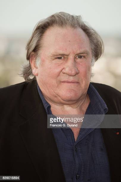 Gerard Depardieu attends the 10th Angouleme FrenchSpeaking Film Festival on August 25 2017 in Angouleme France