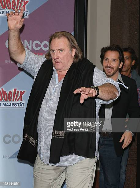 Gerard Depardieu attends the 'Asterix Obelix God Save Britannia' photocall at Hotel de Rome on October 1 2012 in Berlin Germany