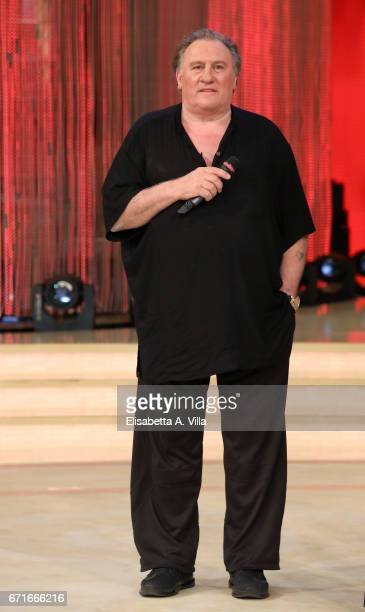 Gerard Depardieu attends the Italian TV show 'Ballando Con Le Stelle' at Auditorium Rai on April 22 2017 in Rome Italy