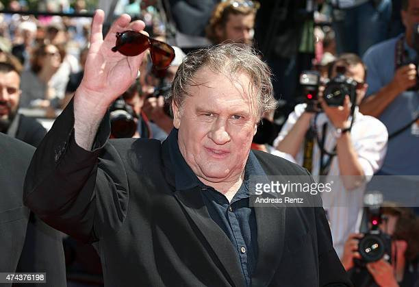 Gerard Depardieu attends the Valley Of Love Premiere during the 68th annual Cannes Film Festival on May 22 2015 in Cannes France
