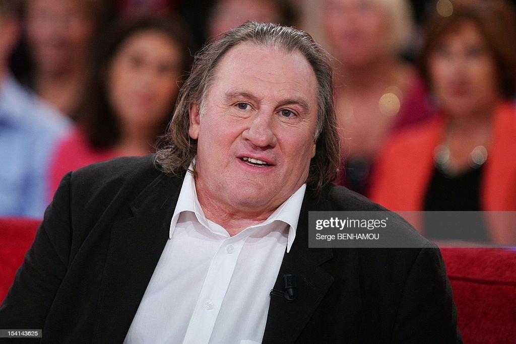 Gerard Depardieu attends Vivement Dimanche Tv show on October 3, 2012 in Paris, France.