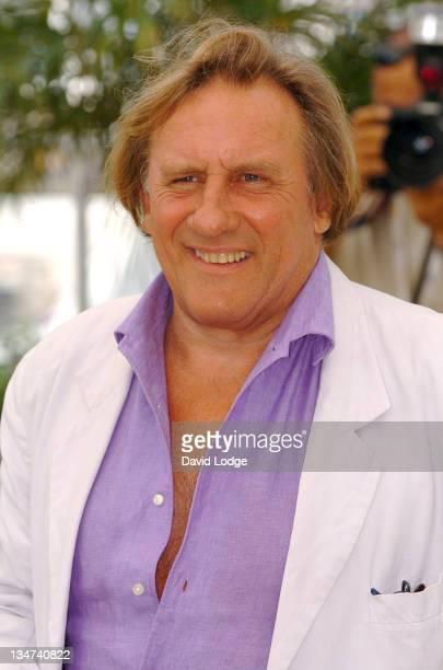 """Gerard Depardieu during 2006 Cannes Film Festival - """"Quand J'Etais Chanteur"""" Photo Call at Palais des Festival Terrace in Cannes, France."""