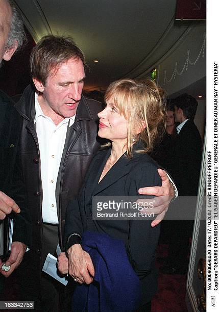 """Gerard Depardieu """"Elisabeth Depardieu"""" """"Hysteria"""" preview and dinner at the Man Ray."""