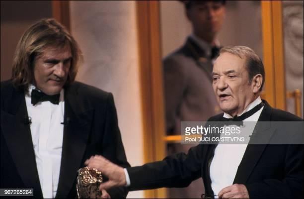 Gerard Depardieu et Jean Carmet, Cesar d'honneur.