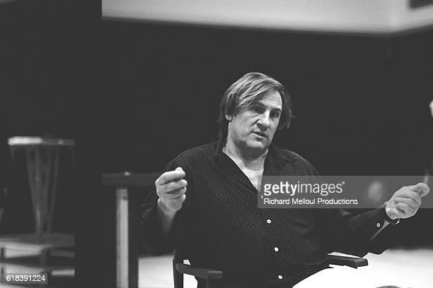 Gerard Depardieu in rehersal