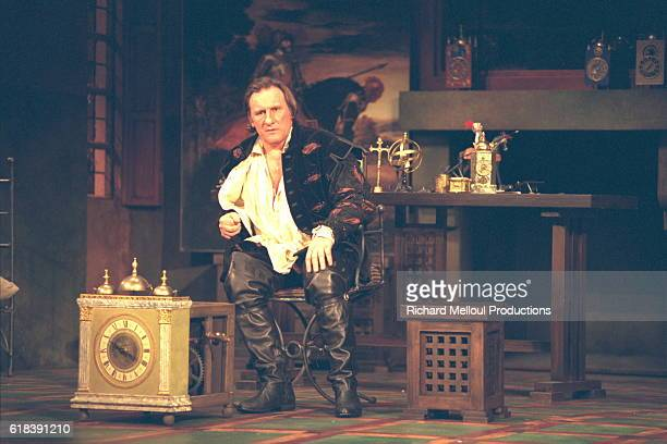 Gerard Depardieu on stage