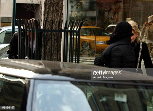 Gerard Depardieu walks with Clementine Igou on December 28 2005 in New York City