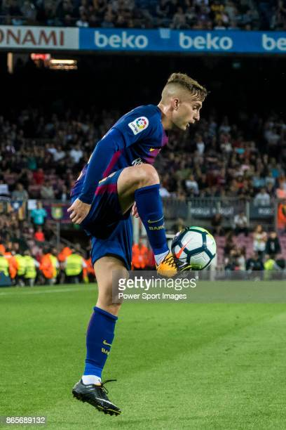 Gerard Deulofeu Lazaro of FC Barcelona in action during the La Liga 201718 match between FC Barcelona and Malaga CF at Camp Nou on 21 October 2017 in...