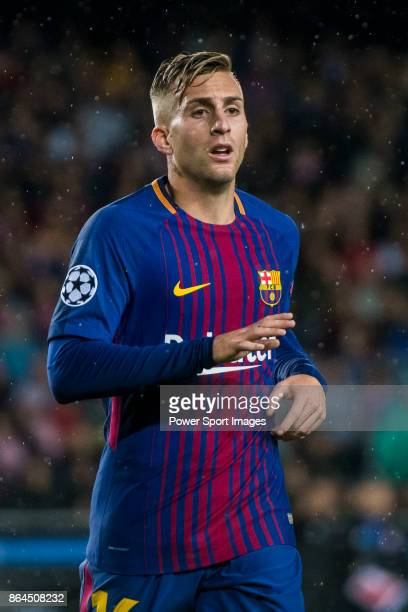 Gerard Deulofeu Lazaro of FC Barcelona reacts during the UEFA Champions League 201718 match between FC Barcelona and Olympiacos FC at Camp Nou on 18...