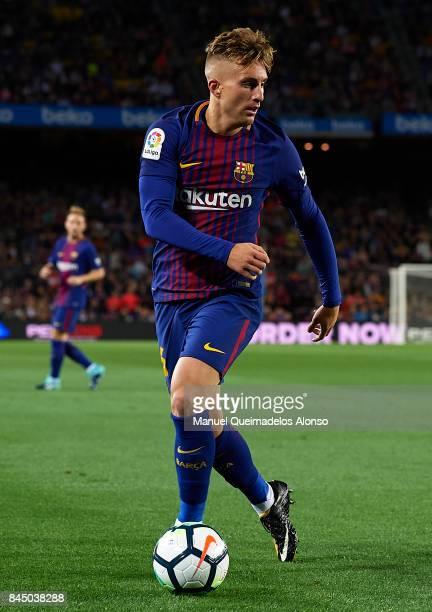 Gerard Deulofeu of Barcelona in action during the La Liga match between Barcelona and Espanyol at Camp Nou on September 9 2017 in Barcelona Spain