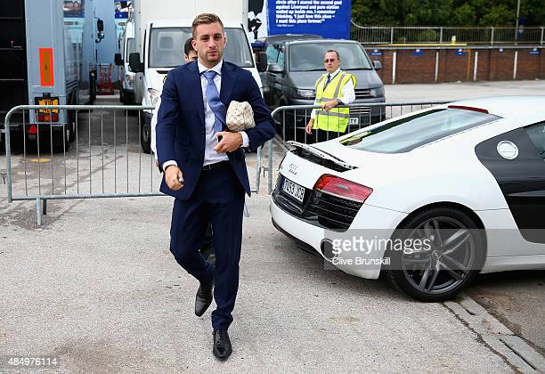 Gerard Deulofeu of Everton arrives at Goodison Park prior to the Barclays Premier League match between Everton and Manchester City on August 23 2015...