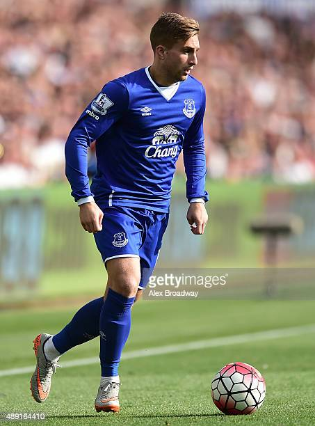 Gerard Deulofeu of Everton in action during the Barclays Premier League match between Swansea City and Everton on September 19 2015 in Swansea United...