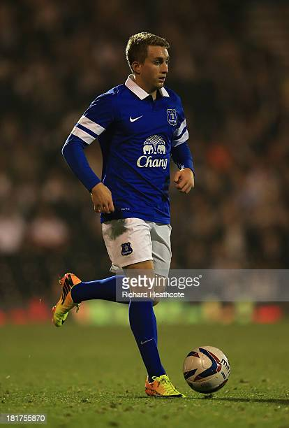 Gerard Deulofeu of Everton in action during the Captial One Cup Third Round match between Fulham and Everton at Craven Cottage on September 24 2013...