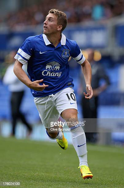 Gerard Deulofeu of Everton in action during the pre season friendly match between Everton and Real Betis at at Goodison Park on August 11 2013 in...