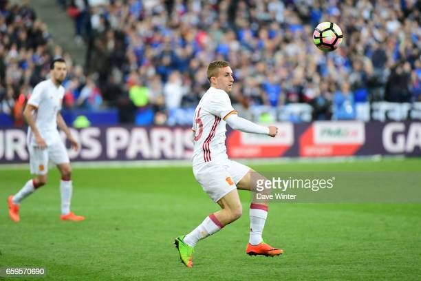 Gerard Deulofeu of Spain during the friendly match between France and Spain at Stade de France on March 28 2017 in Paris France