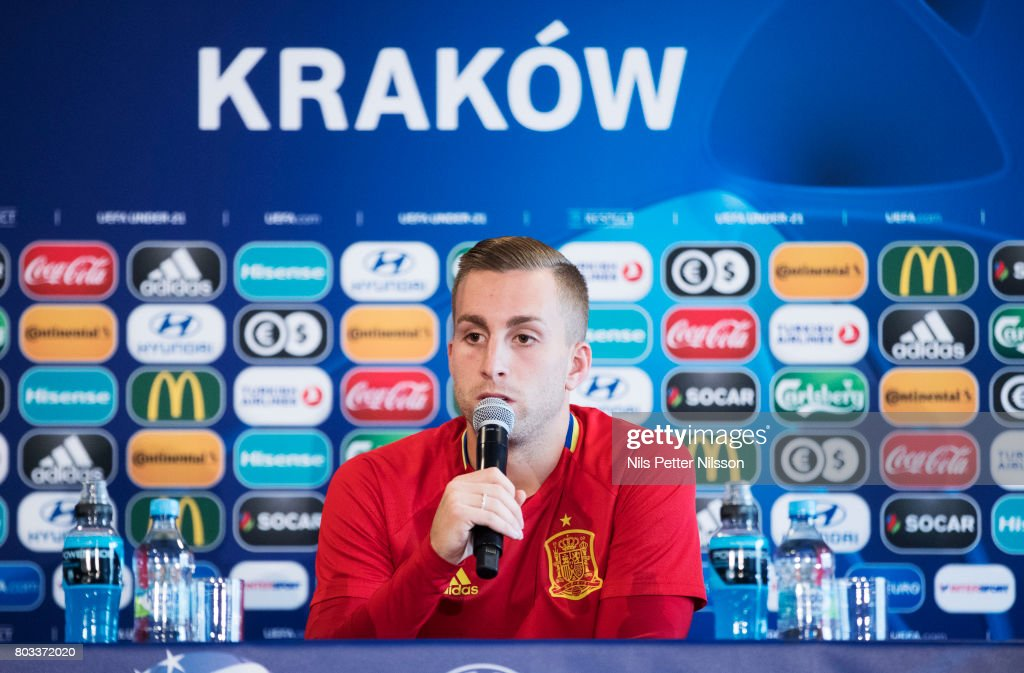 Spain Training Session and Press Conference - 2017 UEFA European Under-21 Championship Final : ニュース写真